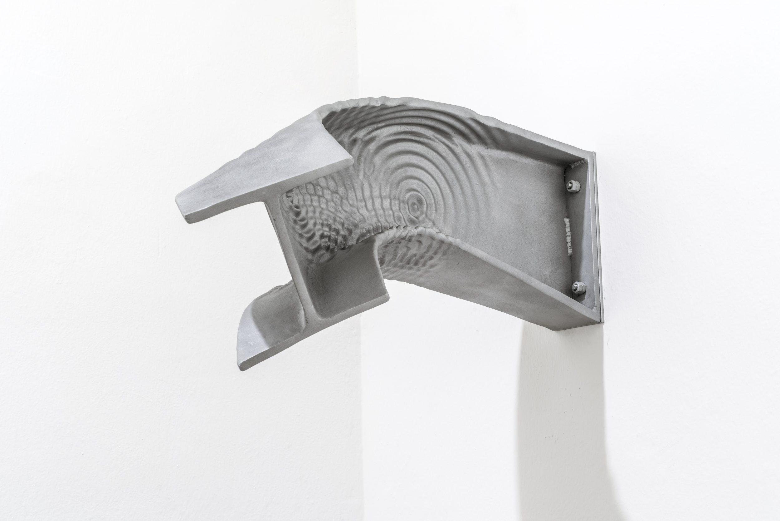 Telluric Geometry I, 2018, casted aluminium, 30 x 50 x 80 cm