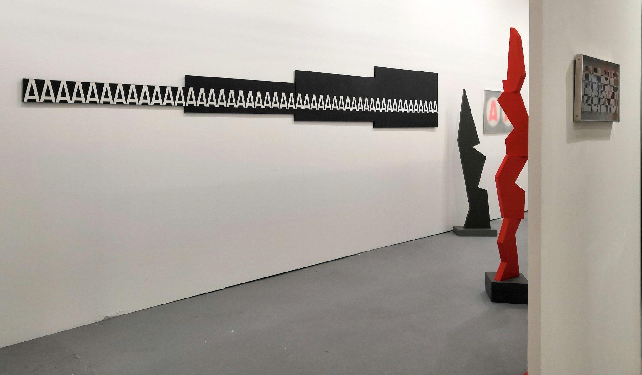 ArteFiera 2019 | 2 vedute sullo stand dedicato a Renato Spagnoli | courtesy Gian Marco Casini Gallery, Livorno