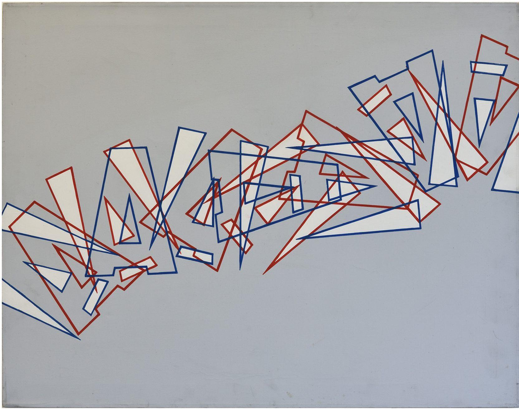 ArteFiera 2019 | Renato Spagnoli: 7224, 1972 - acrilico su tela, 60x100 cm |courtesy Gian Marco Casini Gallery, Livorno | foto di Francesco Levy